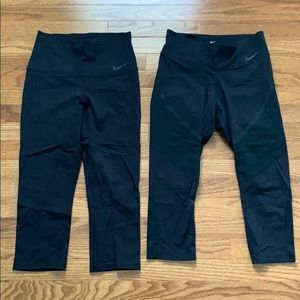 Nike Pants & Jumpsuits - Nike Capri Training Leggings Set